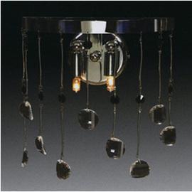 Бра 1288 2L WALL LAMP CHROME - TRANSP+AMETH