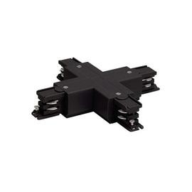 Соединитель для шинопроводов Х-образный, Черный