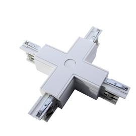 Соединитель для шинопроводов Х-образный, Белый