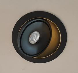 Светильник встраиваемый поворотный S2038 BL+SG LED