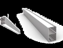 Накладной/Подвесной алюминиевый профиль P5077