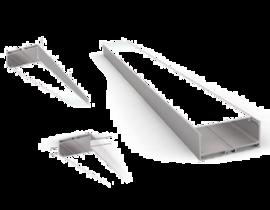Накладной/Подвесной алюминиевый профиль P7532