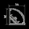 Угловой алюминиевый профиль PU1610